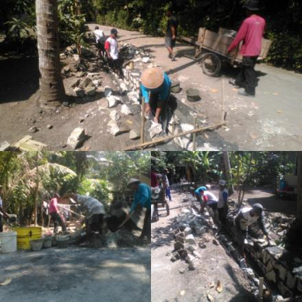 Bangket Saluran Irigrasi Pedukuhan Trisigan I Desa Murtigading