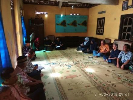 Sosialisasi pembangunan irigasi di wilayah P3A Trimanunggal Kranggan