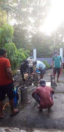 Penyemprotan Disinfektan Dusun Pucanganom III