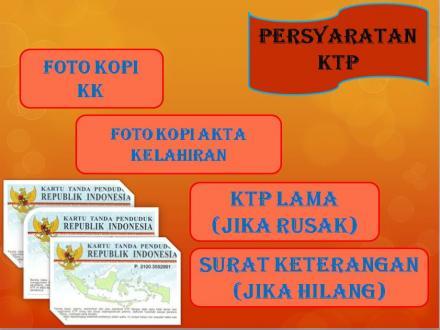 Persyaratan Pencetakan KTP-el