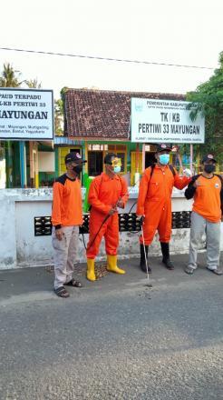 Dekontaminasi Kelompok Belajar di Kalurahan Murtigading