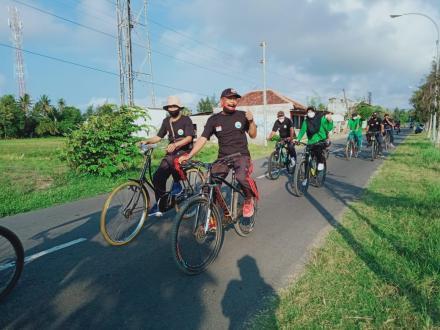 Gowes Pamong Kalurahan Murtigading dalam Rangka Peringatan Hari Kesaktian Pancasila