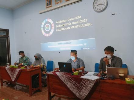Bimtek Pendataan Berbasis SDGs Desa Tingkat RT